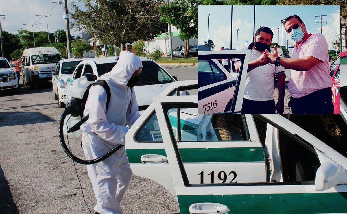 Sanitizan 106 unidades vehiculares en Cancún por medio de denuncia ciudadana