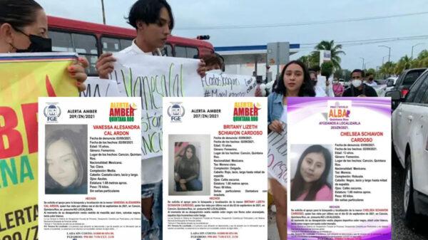 Cancún: Protestan padres y amigos de menores desaparecidas en la SM 225