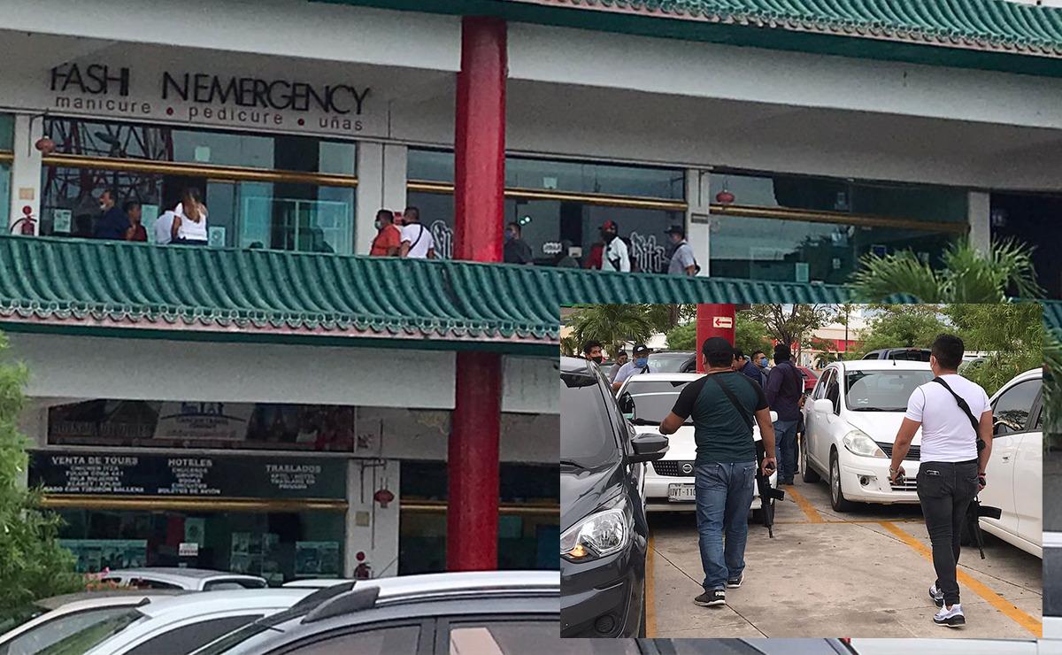 Cancún: Alarma por fuerte movilización policiaca en Plaza Hong Kong