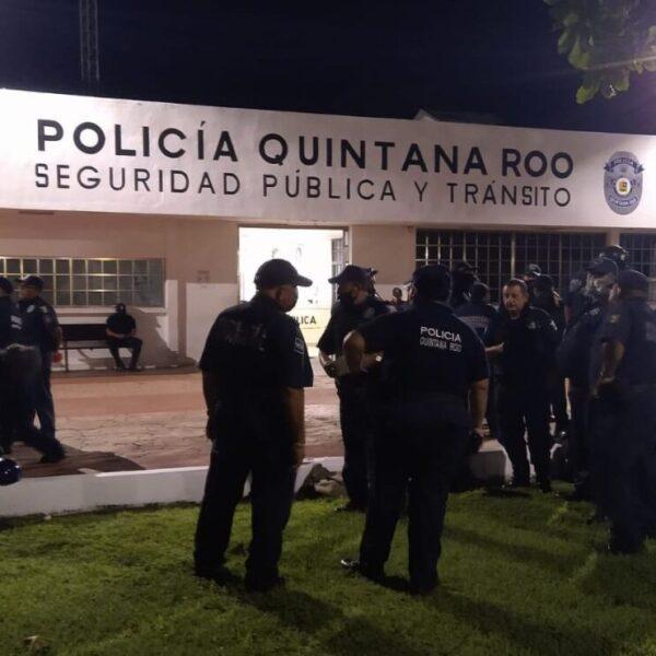 Protesta Policía de Cozumel; rechazan bono humillante
