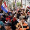 Protestan en Paraguay por ley que castiga invasión de tierras