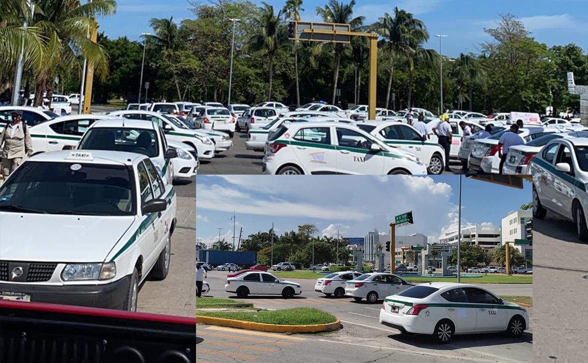Cancún: Taxistas vuelven a bloquear acceso a Zona Hotelera