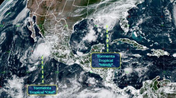 """Se esperan lluvias en 6 estados debido a la tormenta tropical """"Olaf"""""""