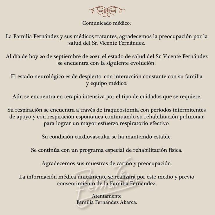 Vicente Fernández en terapia intensiva y respirando por traqueostomía