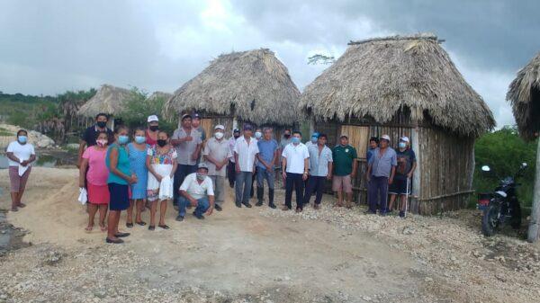 Red de Ejidos supervisa cabañas de proyecto ecoturístico de la Laguna Chaac Ha en Juárez.