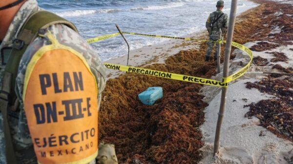 Recalan en playa de Cozumel más de 80 kilos de drogas.
