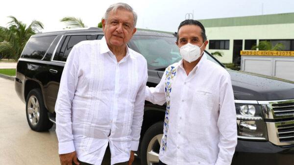 Llega AMLO a Quintana Roo para supervisar obras del Tren Maya