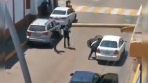 Video: Federales abaten a balazos a delincuente en Metepec