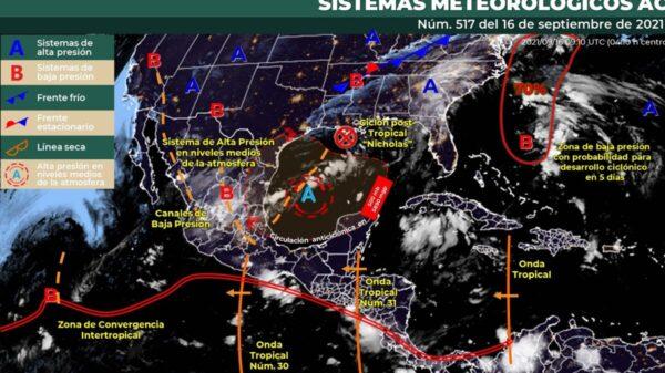 Clima: Se pronostican algunos chubascos aislados en Quintana Roo.