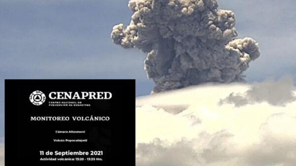 Popocatépetl!, alerta amarilla por explosión del coloso