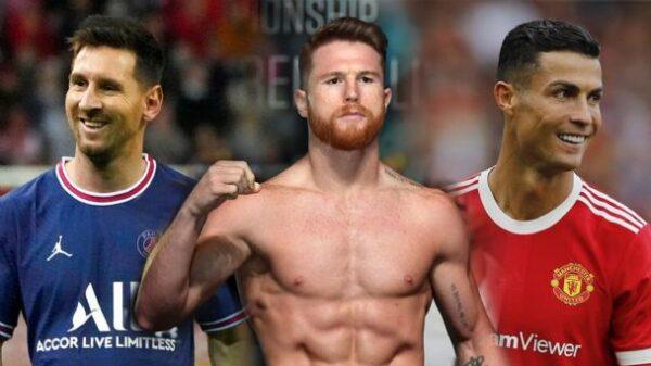 Canelo Álvarez dice estar al nivel de Cristiano y Messi