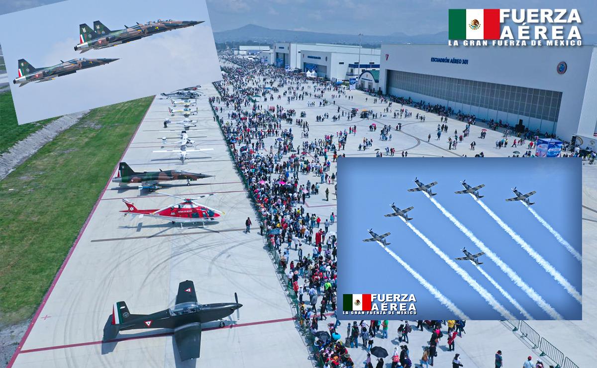 Con majestuosa exhibición, concluye IV edición de la Feria Aeroespacial México