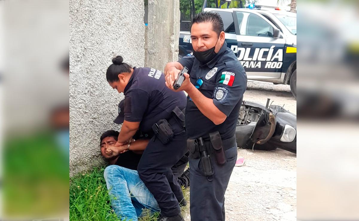 Video: Policía dispara y lesiona a civil en Cozumel