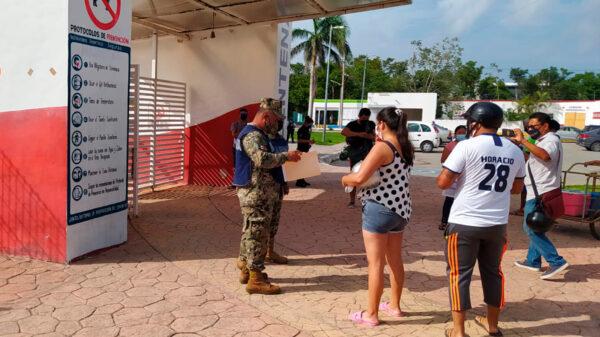 Desciende afluencia en jornada de vacunación en Cozumel