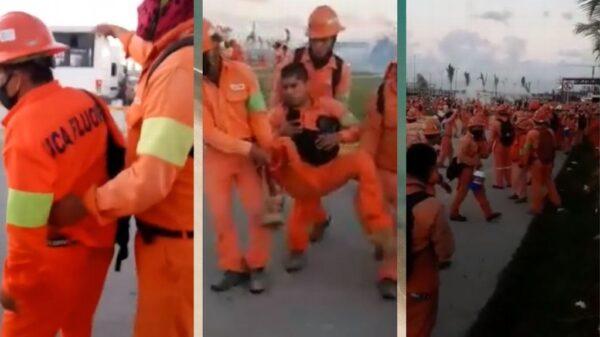 Enfrentamiento de trabajadores en la Refinería de Dos Bocas en Tabasco (VIDEOS).