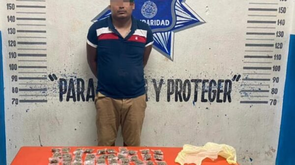 Playa del Carmen: Cae un sujeto con 69 dosis de drogas.
