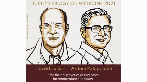 Otorgan Premio Nobel de Medicina a descubridores de receptores de temperatura y tacto