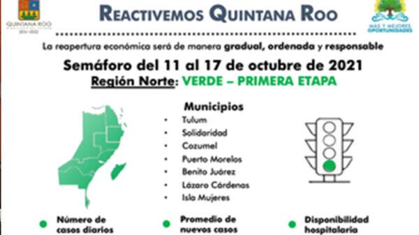 Avanza a verde Cancún y Zona Norte de Quintana Roo