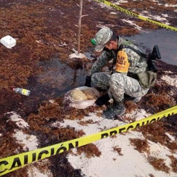 Asegura el Ejército Mexicano recale de droga en Cozumel