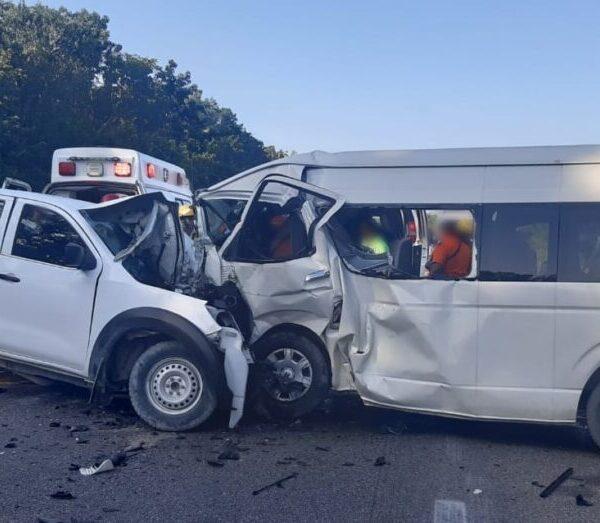 Brutal choque carretero deja 5 muertos en Felipe Carrillo Puerto (VIDEO).