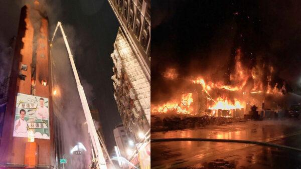Se registra incendio en un edificio y mueren 46 personas