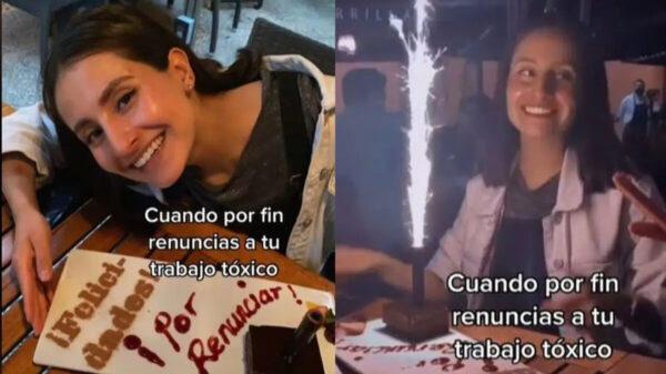 """Joven se viraliza al celebrar que renunció a su """"trabajo tóxico"""""""