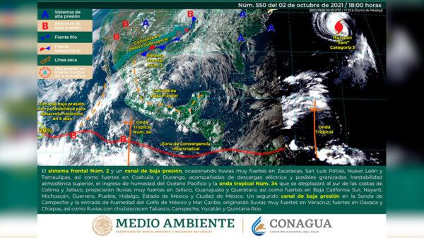 Pronostica el SMN chubascos en Quintana Roo este domingo