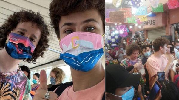 Luisito Comunica y Juanpa Zurita causan alboroto en mercado de Mérida