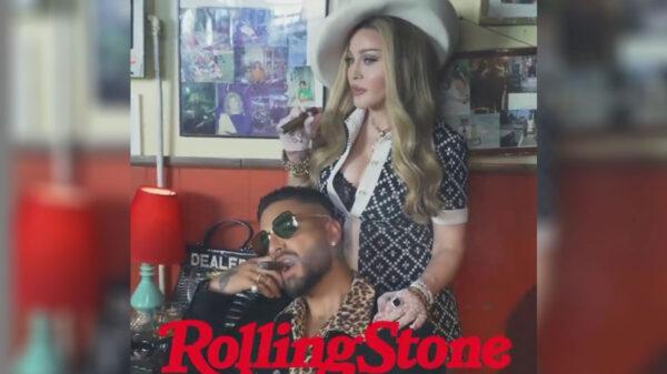 Maluma y Madonna juntos en la portada de Rolling Stone