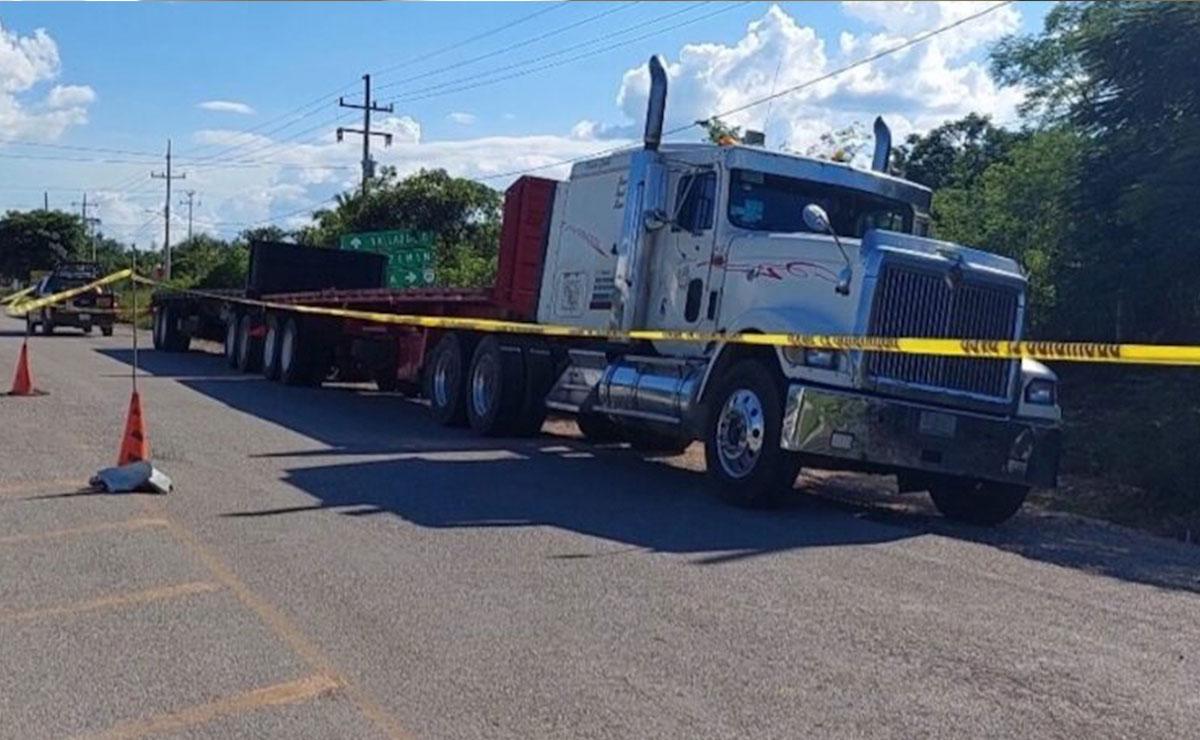 Encuentran muerto a trailero en el periférico de Mérida-Río Lagarto