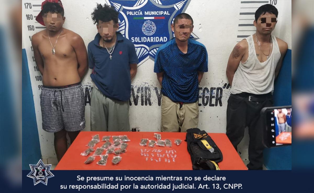Caen cuatro presuntos narcomenudistas en Playa Del Carmen