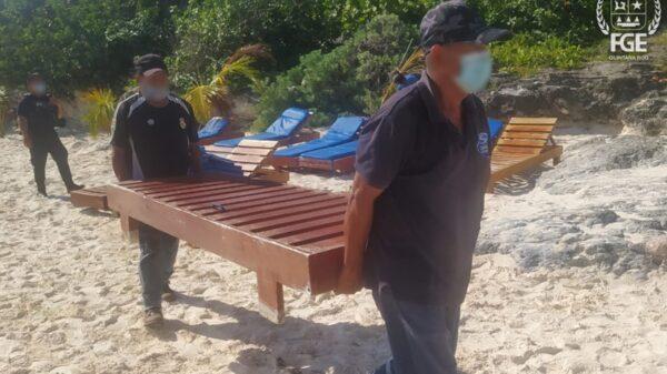 Liberan espacios públicos en Playa Tortugas de Cancún.