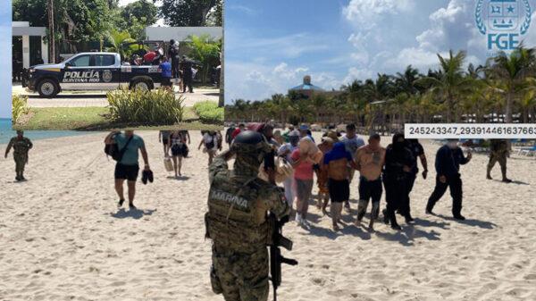 """Autoridades pasan la """"barredora"""" a delincuentes en zona turística de Playa Del Carmen"""
