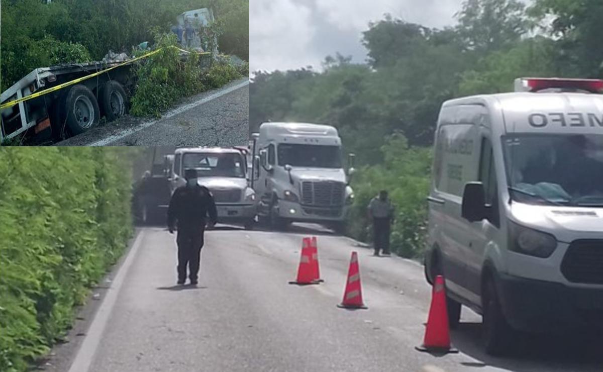 Conductor de Tsuru muere prensado y aplastado por bultos de cemento tras choque