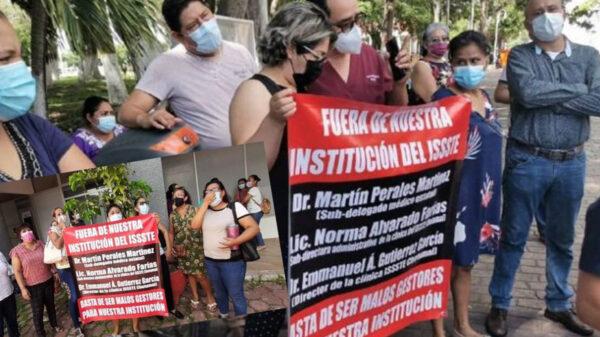 Se subleva personal médico del ISSSTE en Chetumal