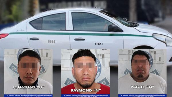 Detención de presuntos taxistas en Cancún originó manifestación