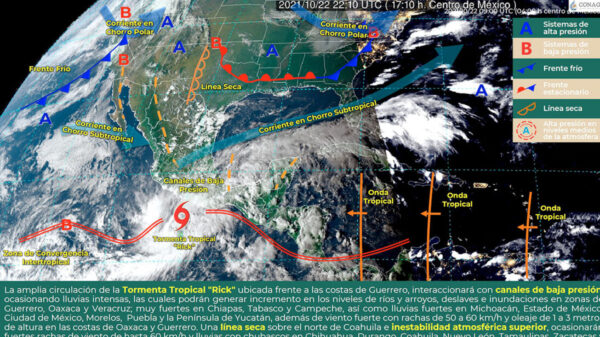 Tormenta tropical Rick impactará Guerrero y Oaxaca