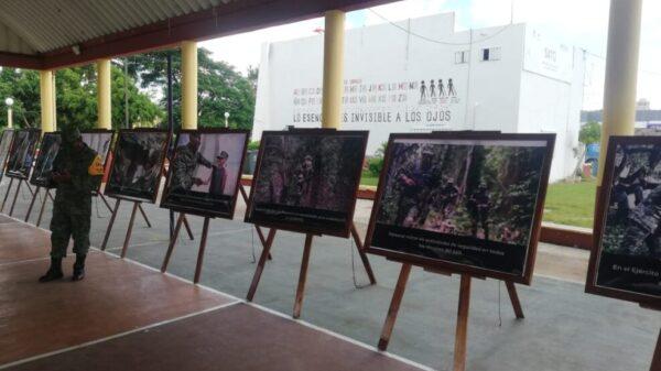 Realizan en Kantunilkín exposición fotográfica el Ejército Mexicano.