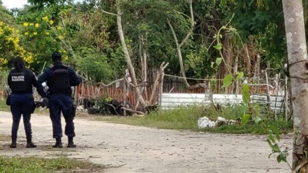 Cancún: Hallan cuerpo de un hombre envuelto en una lona en la colonia 4 Hermanos (VIDEO).