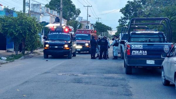 Cancun: Atacan y lesionan a balazos a pareja en la SM 211, las dos víctimas fueron internadas, uno gravemente lesionado