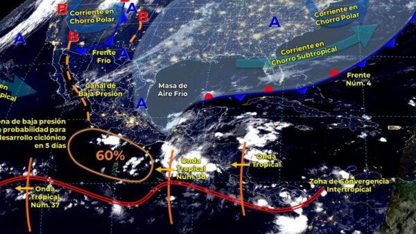 Clima: Se prevén lluvias fuertes para hoy en Quintana Roo.