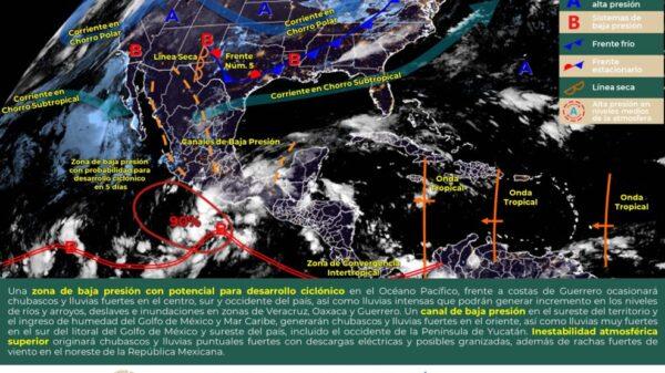Clima: Pronostican intervalos de chubascos para Quintana Roo.