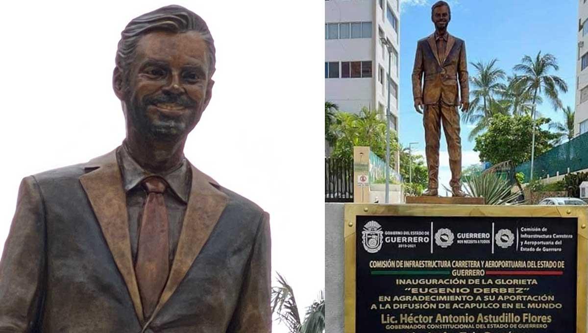 Vandalizan y quitan estatua de Eugenio Derbez en Acapulco