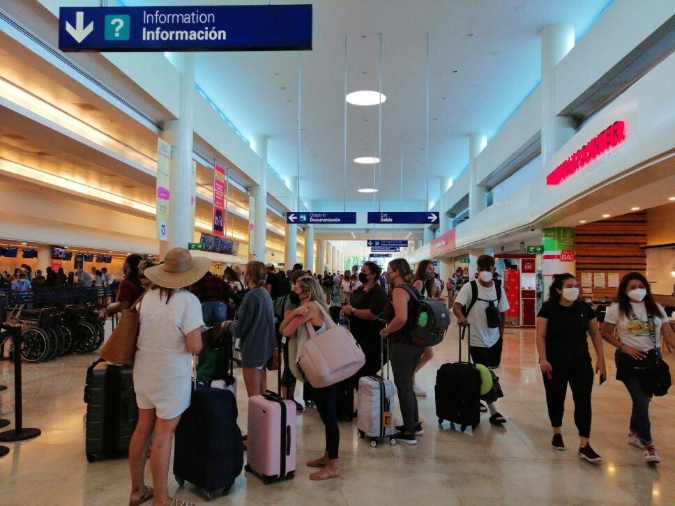 Conexión a 40 destinos y 409 operaciones para hoy en el aeropuerto de Cancún.