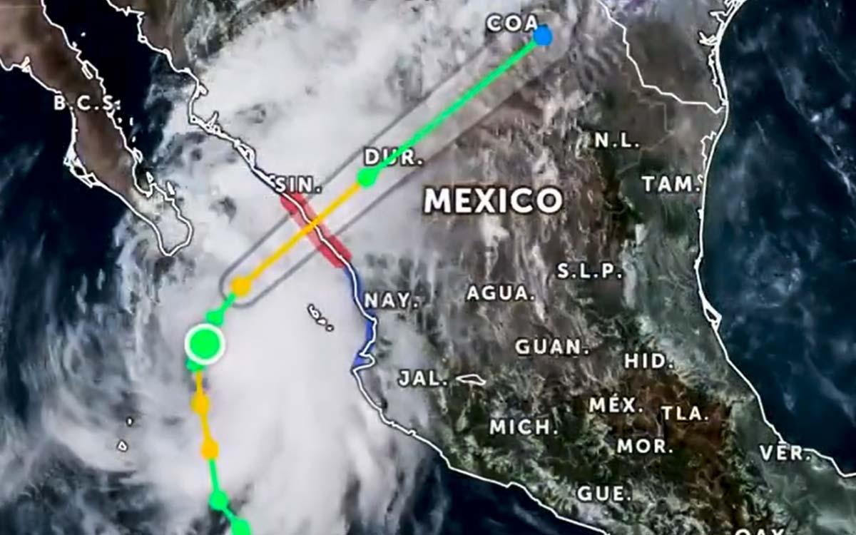 Huracán 'Pamela' tocó tierra en el municipio de San Ignacio, Sinaloa.
