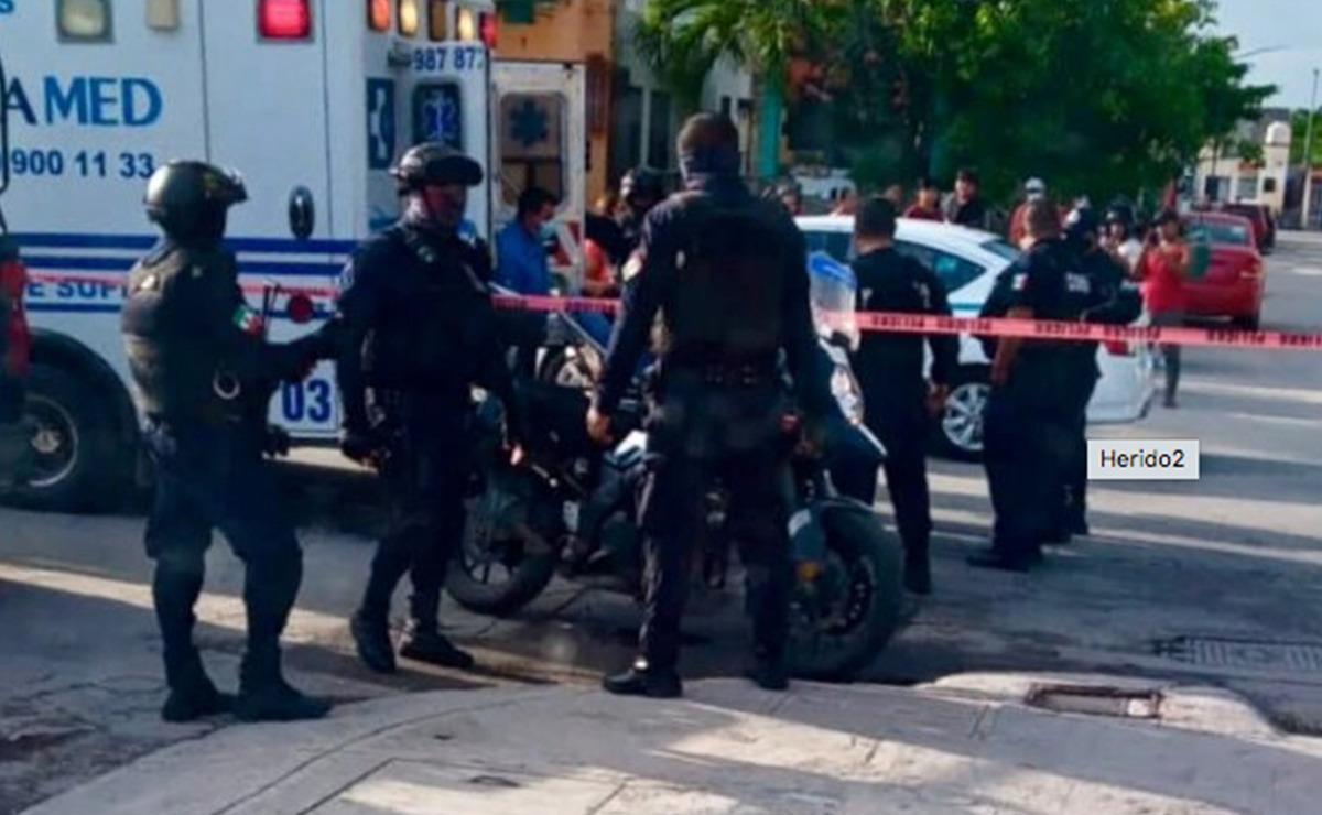 Policía dispara contra violento sujeto que lo agredió con un cuchillo