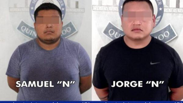 Detienen a ex policía de Cancún y cómplice como presuntos asaltantes